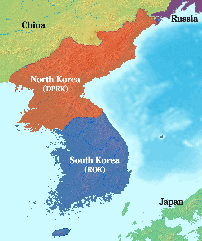 Where Empires Intersect Works In Theory - North korea map of us targets