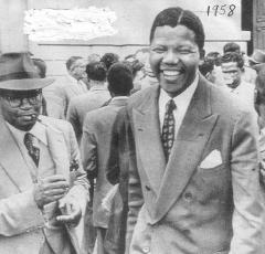 Nelson Mandela (right)