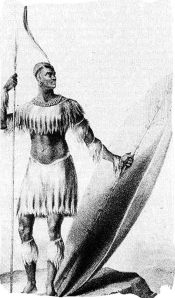 Shaka Zulu in 1824, the only known drawing